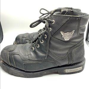 Harley-Davidson Size 11 Black Steel Toe Boots